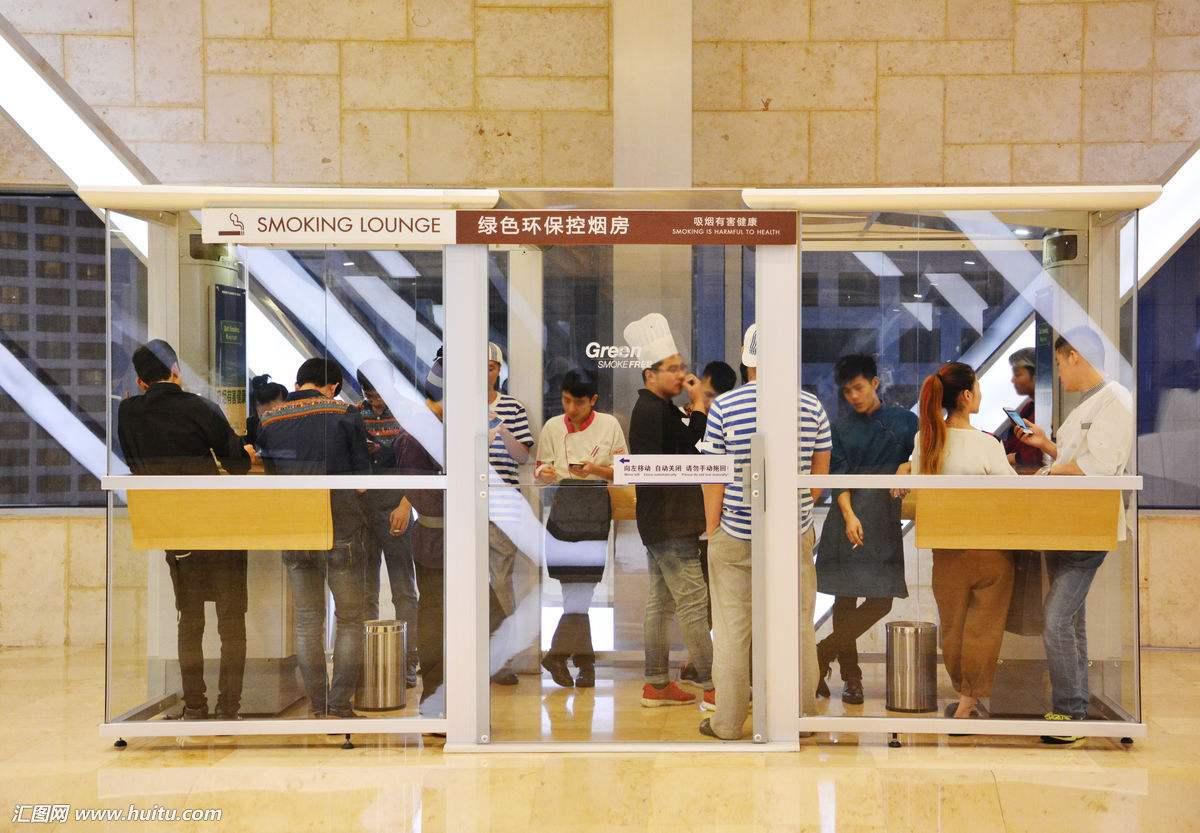 成都双流机场采用格瑞宁技术改造吸烟室受广泛好评
