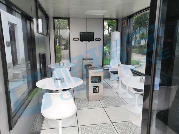 你支持在公共娱乐场所设置吸烟室吗?